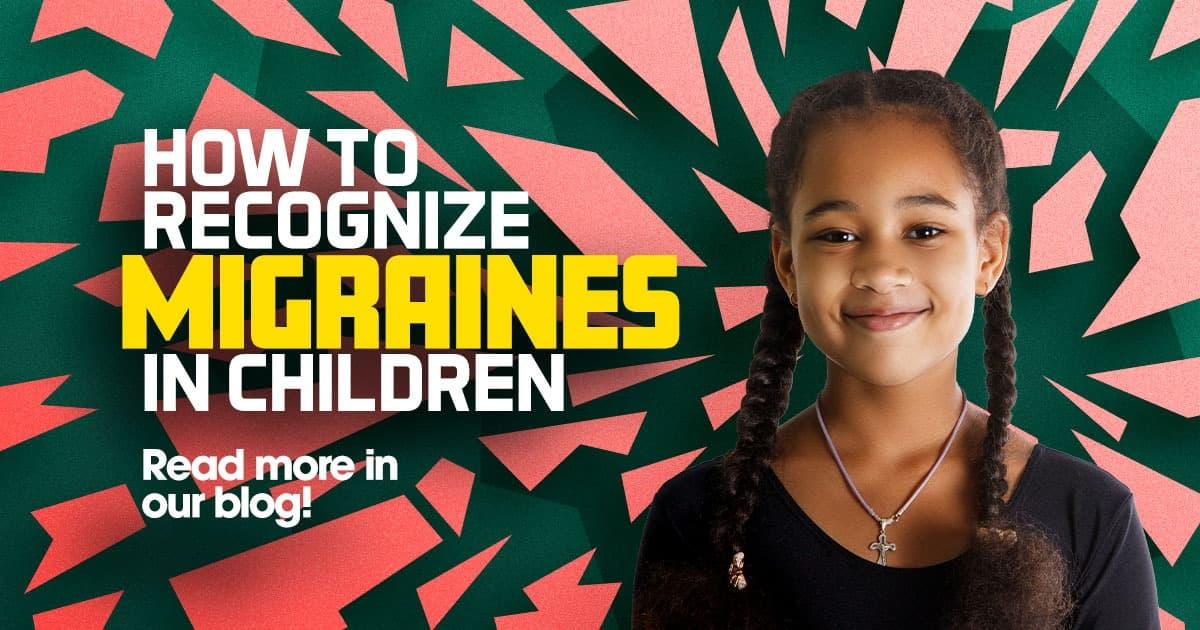Migraines in children, young girl smiling